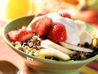 Erdbeer-Bananen-Müsli