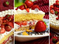 Erdbeertörtchen mit Eierlikör