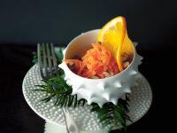 Erfrischender Möhren-Orangensalat