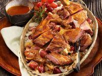 Fasan mit Sauerkraut