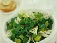 Feldsalat mit Fenchel und Avocado