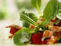 Feldsalat mit Speck und Rote Bete