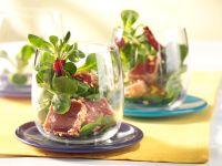 Feldsalat mit Thunfisch und Schalottendressing