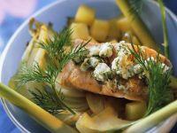 Fenchel-Kartoffelgemüse mit Lachs