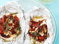 Feta mit Tomaten gegrillt
