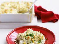 Fisch-Kartoffelpüree-Auflauf