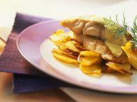 Fisch mit Bratkartoffeln