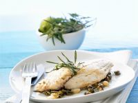 Fisch mit Limetten-Kapern-Butter