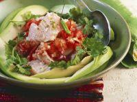 Fisch mit Tomaten und Koriander (Ceviche)