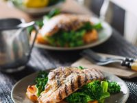Fischfilet mit Süßkartoffeln und Brokkoli