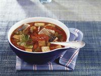Fischsuppe mit Paprika