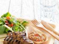 Fleischspieße mit Satésoße vom Grill