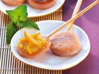 Fleischwurst Lollies mit 5 verschiedenen Dips