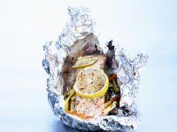 Folien-Lachs mit Gemüse