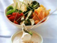 Fondue mit Gemüse