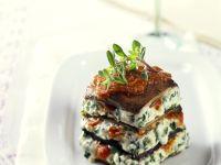 Frischkäse-Lasagne mit Portobello
