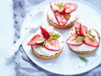 Frischkäse-Toasties mit Erdbeeren