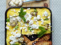 Frittata mit Artischocken, Ricotta und Saubohnen