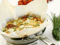 Frittata mit Kartoffeln und Käse