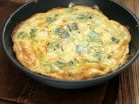Frittata mit Lauch und Käse