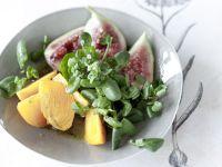 Fruchtiger Brunnenkresse-Salat mit Vanille-Vinaigrette