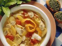 Fruchtiger Gemüseeintopf mit Kabeljau