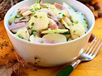 Fruchtiger Kartoffel-Schinkensalat