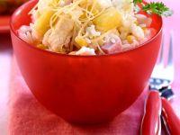 Fruchtiger Reis mit Schinken