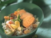 Fruchtiger Reis mit Schweinefilet