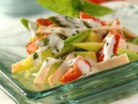 Fruchtiger Spargelsalat mit Pute