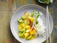 Fruchtiges Curry mit Reis
