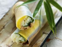 Frühlingsrollen auf vietnamesische Art mit Tofu und Mango