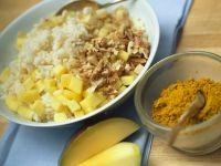 Gänsebratenfüllung aus Curry-Reis