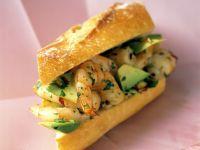 Garnelen-Avocado-Sandwich