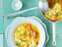Garneleneintopf mit Chorizo und Safran