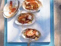 Garnelenschwänze mit Ingwer-Tomaten-Salsa