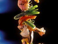 Garnelenspieß mit Gemüse vom Grill