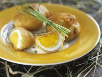 Gebackene Eier mit Schnittlauch