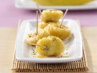 Gebackene Honig-Bananen mit Sesam