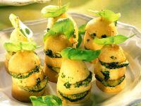 Gebackene Kartoffel-Zucchini-Spießchen