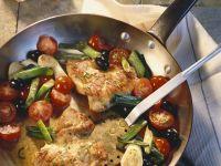 Gebratene Putenschnitzel mit Gemüse
