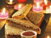 Gebratener Garnelen-Toast