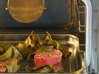 Gedämpfte Thunfischfilets mit Koriandersalz