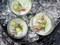 Geeiste Melonen-Gurken-Suppe