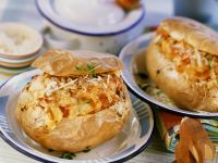 Gefüllte, gebackene Kartoffeln