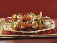 Gegrillte Hähnchen-Süßkartoffel-Spieße (Yakitori)