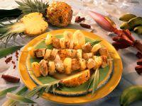 Gegrillte Puten-Ananasspieße