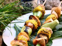 Gegrillte Puten-Gemüse-Spieße