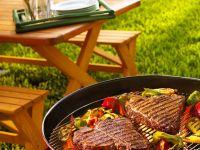 Gegrillte T-Bone-Steaks