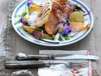 Gegrillter Fisch mit Gemüse